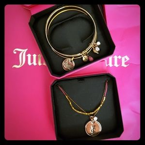 Juicy Couture necklace and bangles
